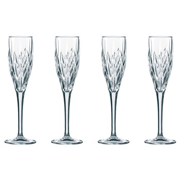 Nachtmann Imperial 4-Piece Crystal Champagne Glass Set 140ml