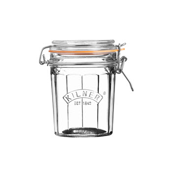 Kilner 450ml Facetted Clip Top Jar