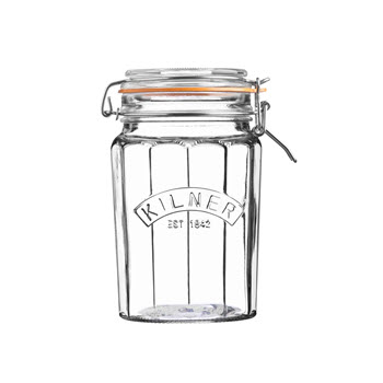 Kilner 950ml Facetted Clip Top Jar
