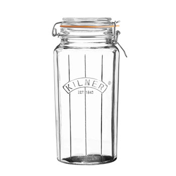 Kilner 1.8L Facetted Clip Top Jar