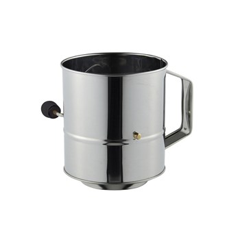 Avanti Stainless Steel 5 Cup Crank Handle Flour Sifter