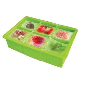 Vin Bouquet Giant Square Silicone Ice Tray Green