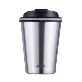 Avanti GOCUP Double Wall Coffee Cup Brushed Stainless Steel 280ml