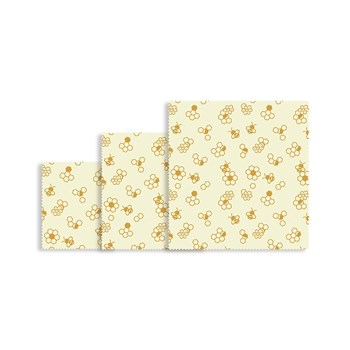 Karlstert Natural Beeswax Food Wrap 3 Piece Starter Pack