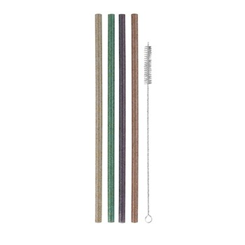 Avanti Reusable Straws Set of 12 Glitter