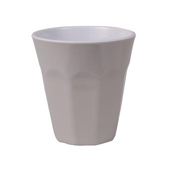 Serroni Café Melamine Single Tone Cup 260ml Dusty Grey