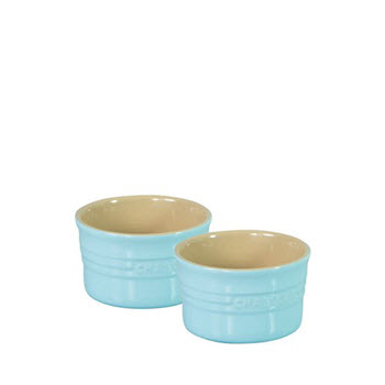 Chasseur La Cuisson Ramekin 10cm set 2 Duck Egg Blue