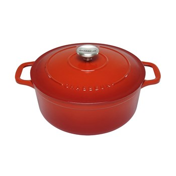Chasseur 24cm/3.8 Litres Round Red French Oven