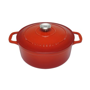 Chasseur 26cm/5.2L Round French Oven Red