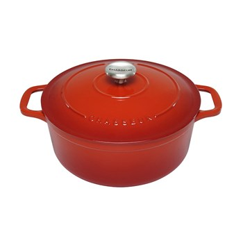 Chasseur 28cm/6.3 Litres Round Inferno Red French Oven