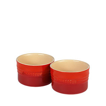 Chasseur La Cuisson 10cm Ramekin set of 2 Red