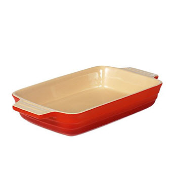 Chasseur La Cuisson  26 x 17 x 5cm Medium Rectangle Baker Red