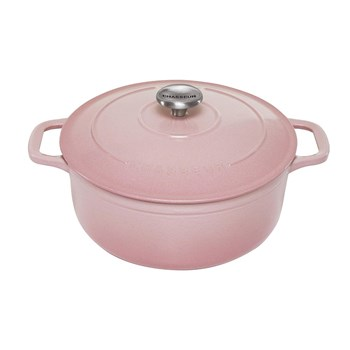 Chasseur Enamelled Cast Iron Round French Oven 26cm/5L Cherry Blossom Pink