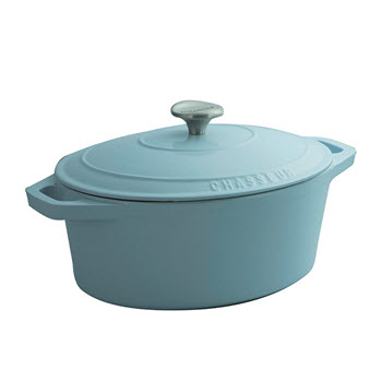 Chasseur 27cm/3.6L Oval French Oven Duck Egg Blue