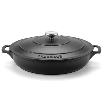 Chasseur 30cm/2.5L Round French Oven Matte Black