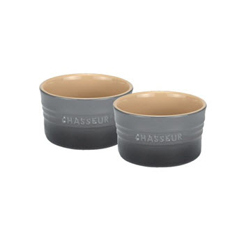 Chasseur La Cuisson 10cm x 6cm Ramekin Set of 2 Grey