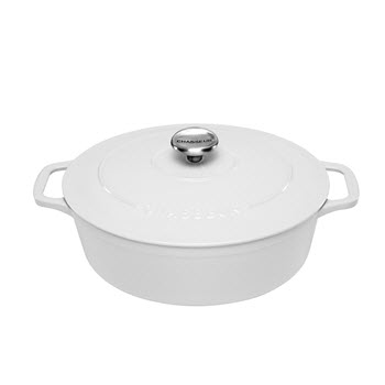Chasseur 27cm/3.6L Oval French Oven Brilliant White