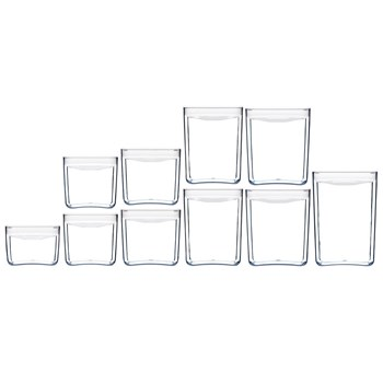 Click Clack Stackable 10 Piece Pantry Cube Canister Starter Set