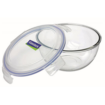 Glasslock 2L Mixing/Storage Tempered Glass Bowl