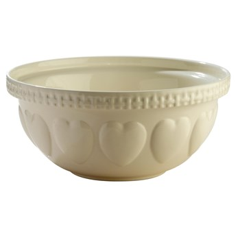 Mason Cash Hearts Earthenware Mixing Bowl 29cm/4L Cream White