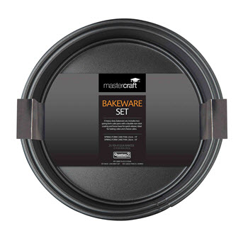 Mastercraft Non Stick Springform Cake Pan Twin Pack