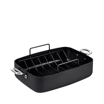 Cuisinart Chef iA+ 39 x 28cm Roasting Pan With Rack Hard Anodised