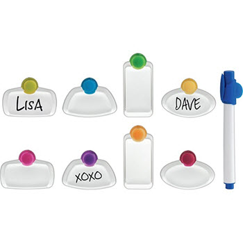 Trudeau Glass Tag and Marker Set 9 Piece
