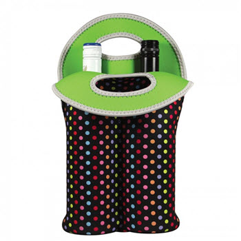 Avanti Insulated Twin Bottle Carrier Tote Confetti