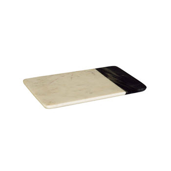 Peer Sorensen Two Tone Marble Cheese Serving Board White 25cm