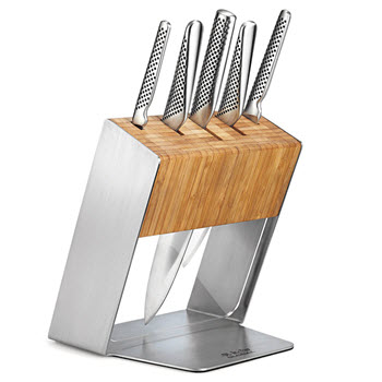 Global Katana Knife Block Set 6 Piece