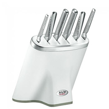 Global Zeitaku Shiro Knife Block 7 Piece