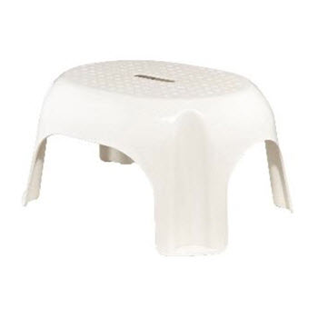 Snazzee White Step Stool