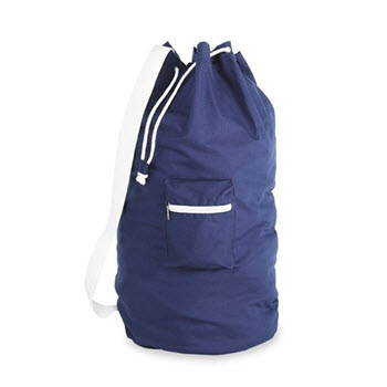 Whitmor Cotton Navy Laundry Duffel