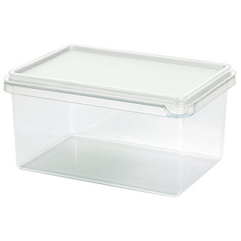 Cuisine Queen Rectangular Food Storers 1L White