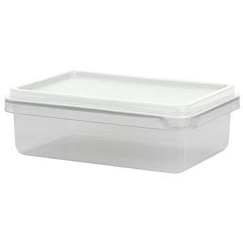 Cuisine Queen Rectangular Food Storers 1.2L White