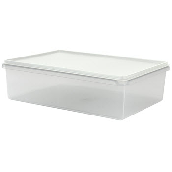 Cuisine Queen Rectangular Food Storers 5L White