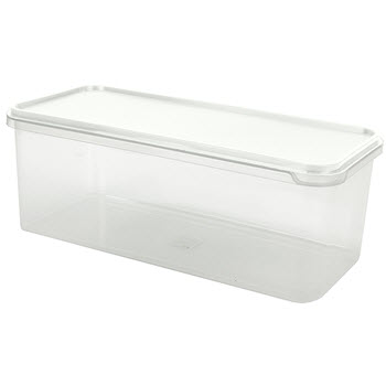 Cuisine Queen Rectangular Bread Box 6.5L White