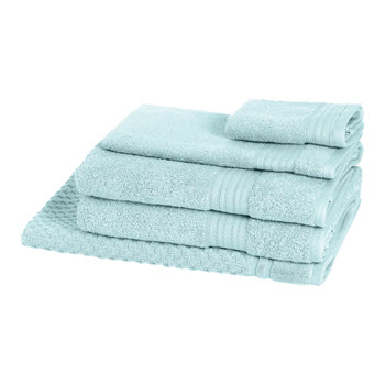 Morrissey Designer Egyptian 5 Piece Towel Pack Aqua Foam