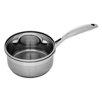 Swiss Diamond Premium Steel 16cm Saucepan With Lid Stainless Steel