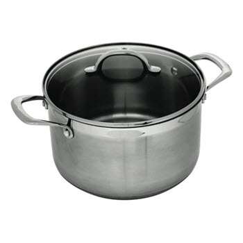 Swiss Diamond Premium Steel 24cm Casserole With Lid Stainless Steel