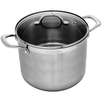 Swiss Diamond Premium Steel 24cm Stock Pot With Lid Stainless Steel