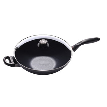 Swiss Diamond Induction Wok with Lid 32cm