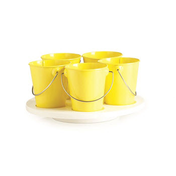 RetroKitchen Craft Turntable Yellow