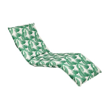 Sunnylife Steel & Polyester Deck Chair Kasbah White & Green