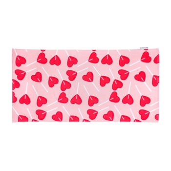 Sunnylife Kids Cotton Towel BFF 75 x 150cm Pink & Red