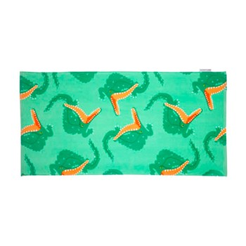 Sunnylife Kids Cotton Towel Crocodile 75 x 150cm Green & Orange