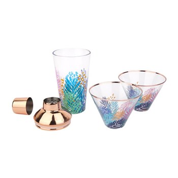 Sunnylife Electric Bloom Luxe Shaker & Glass Set