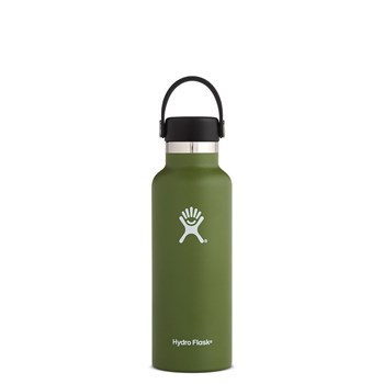 Hydro Flask Standard Mouth Stainless Steel Insulated Drink Bottle 532ml/18oz Olive Green