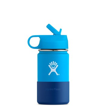 Hydro Flask Kids Wide Mouth Stainless Steel Insulated Drink Bottle 355ml/12oz Pacific Blue