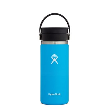 Hydro Flask Wide Mouth Stainless Steel Drink Bottle with Flip Lid 473ml/16oz Pacific Blue